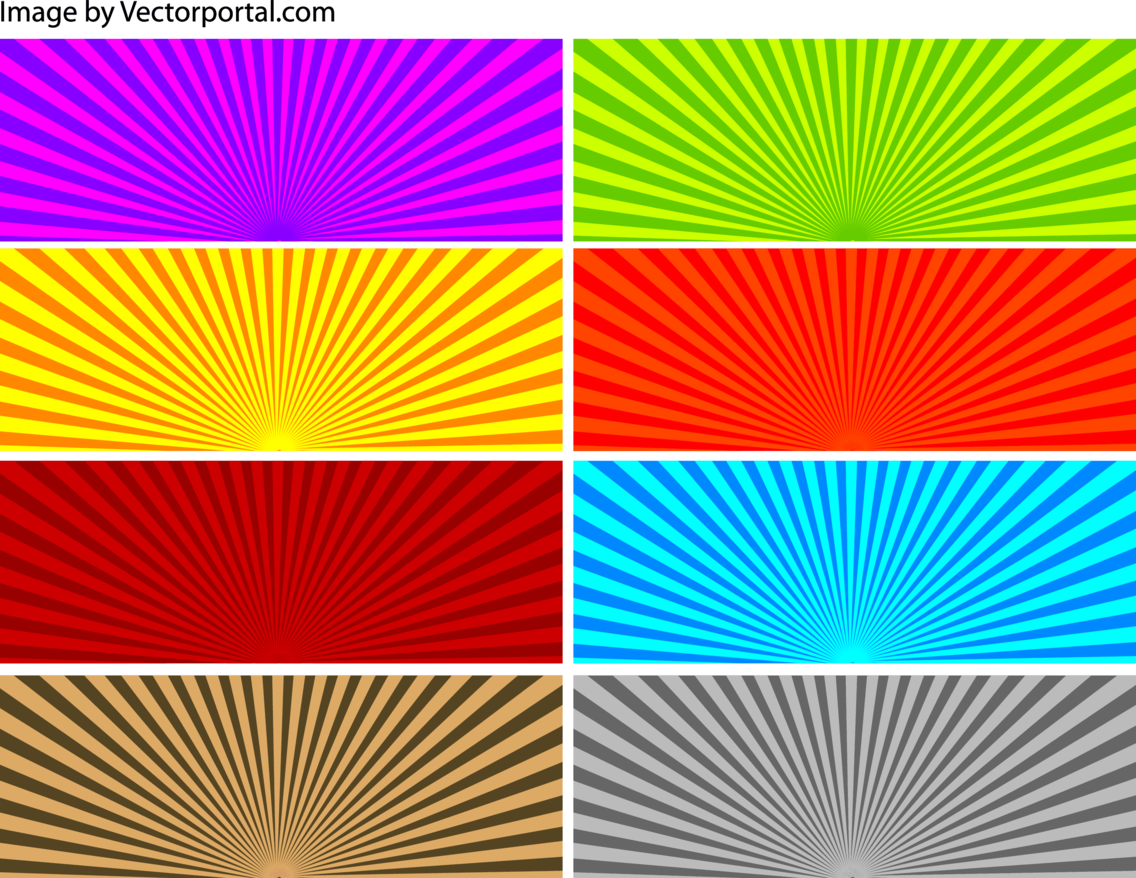 Sunbeams Backgrounds Set