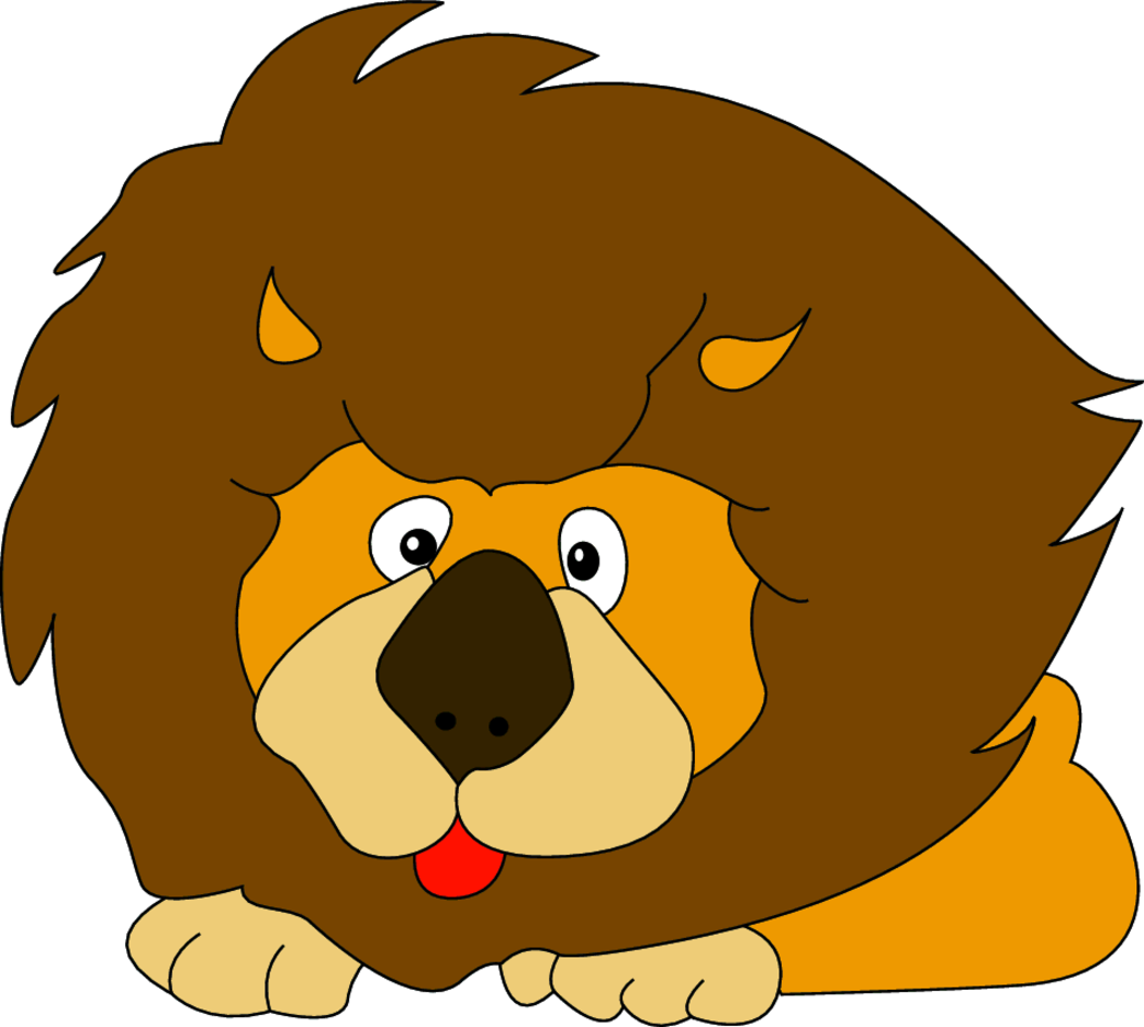 Lion Cartoon Character- Free Vector.