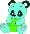 Panda Cartoon Character- Free Vector.
