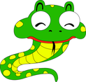 Snake Cartoon Character- Free Vector.
