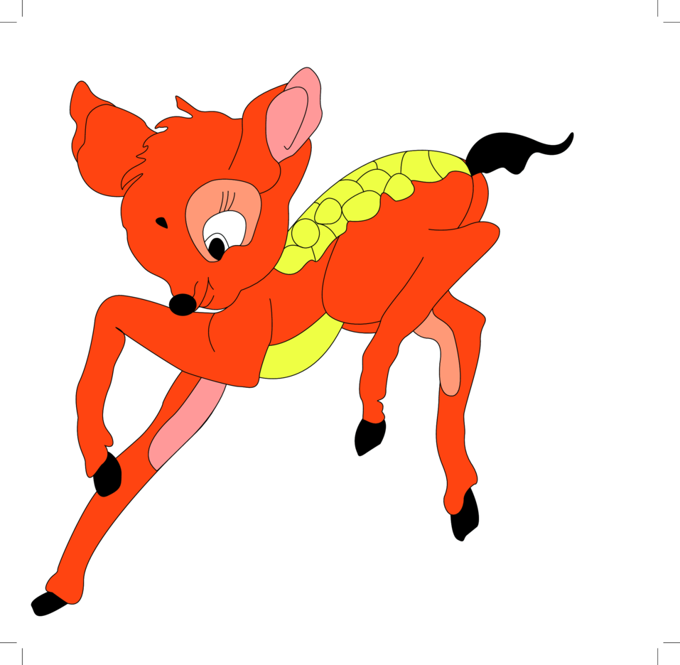 Baby Deer Cartoon Character- Free Vector.
