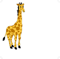 Giraffe Cartoon Character- Free Vector.