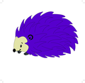 Hedgehog Cartoon Character- Free Vector.