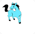 Horse Cartoon Character- Free Vector.