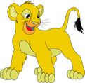 Baby Lion Cartoon Character- Free Vector.