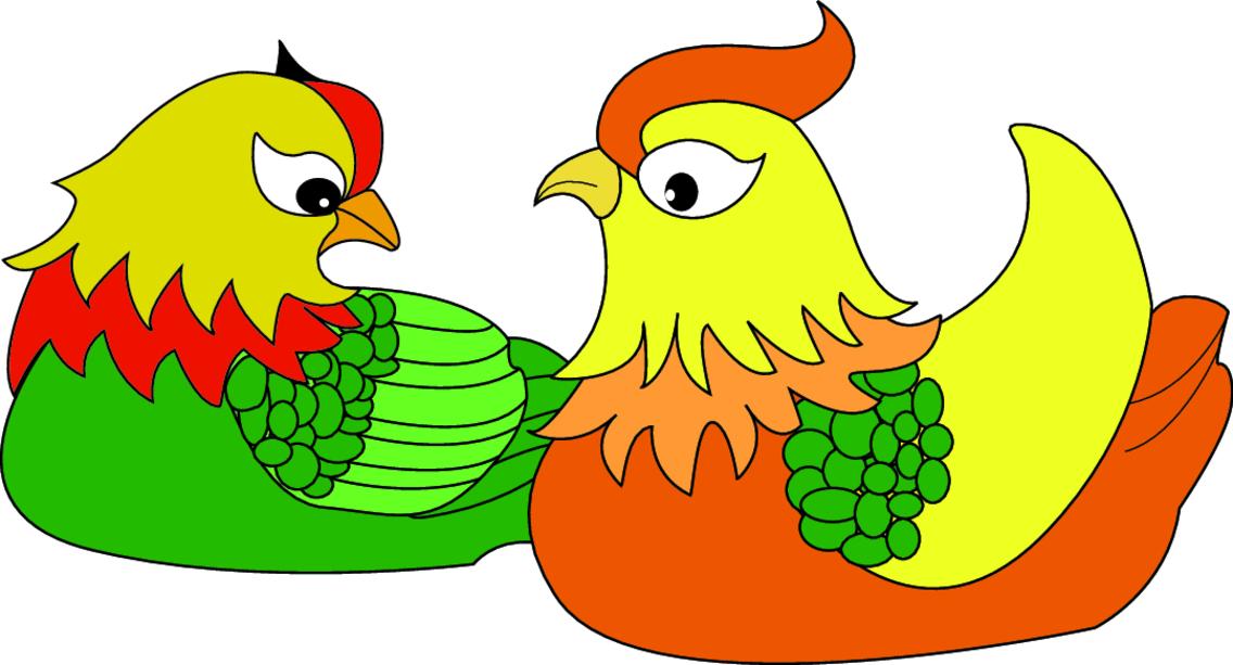 Chicken Cartoon Character- Free Vector.