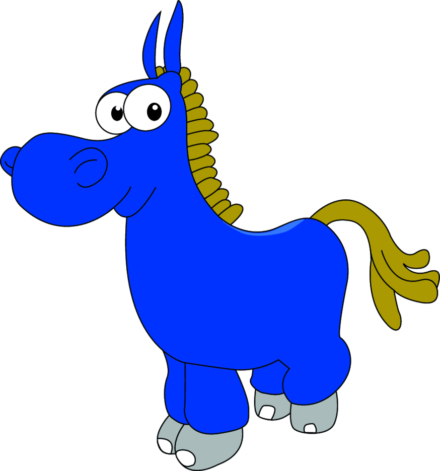Donkey Cartoon Character- Free Vector.