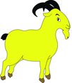 Goat Cartoon Character- Free Vector