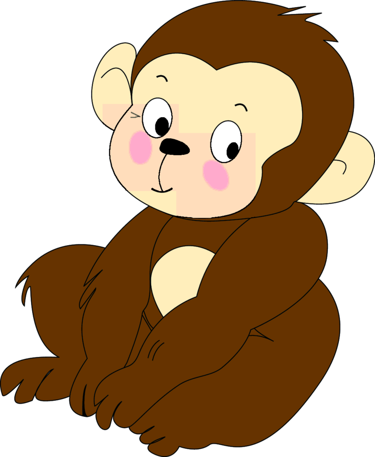 Monkey Cartoon Character- Free Vector.