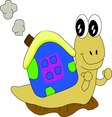 Snail Cartoon Character- Free Vector.
