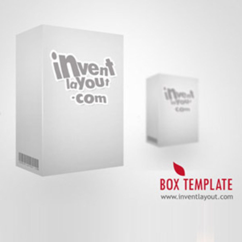 3D Box Template PSD