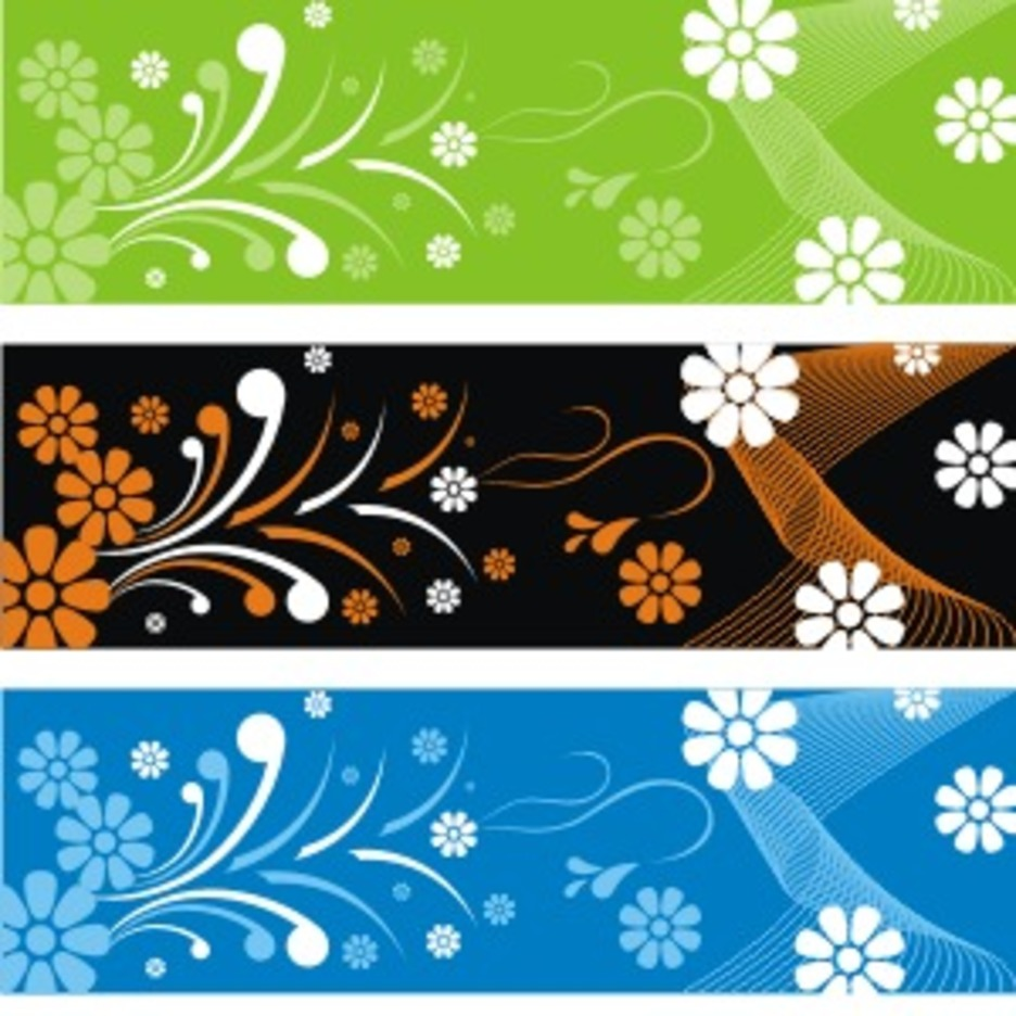 Flower Banner Backgrounds