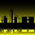 Oil Refinery Silhouette