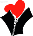 Zipped Heart Vector