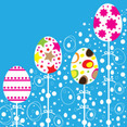 Easter Colorful Ornaments Design