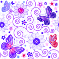 Floral Butterfly Pattern