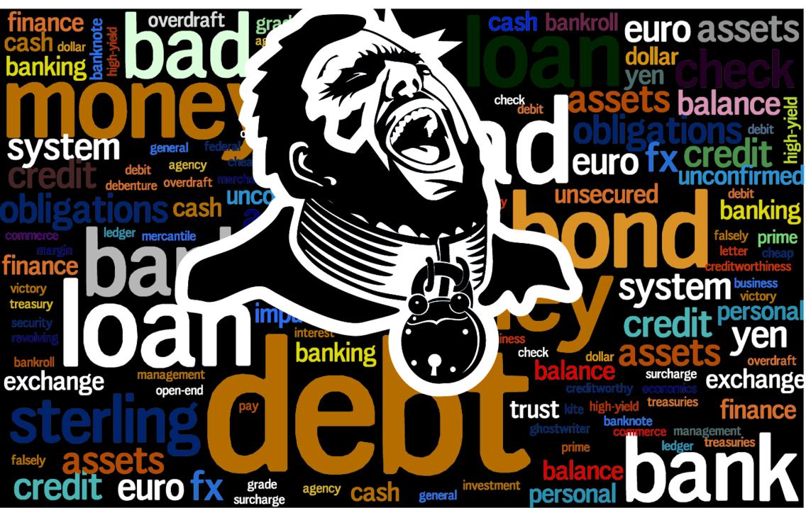 Debt Slave Vector Image