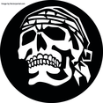 Skull With Headscarf Vector Clip Art