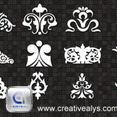 Decorative Ornaments For Logo, Web And Graphic Design