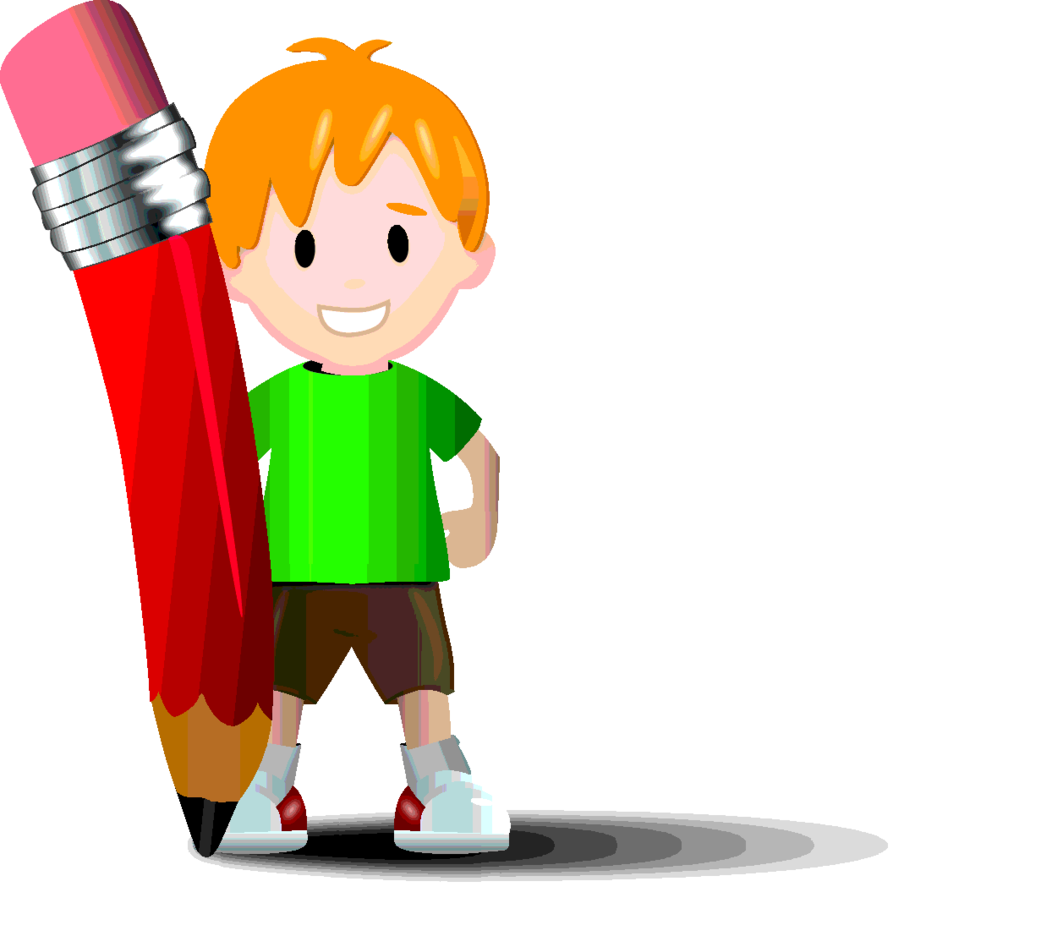 Free Vector Kid With Pencil