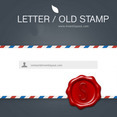 Letter And Old Stamp