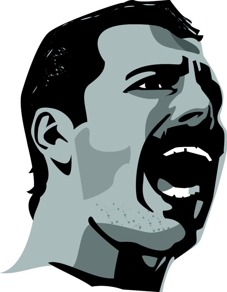 Freddie Mercury Vector Image