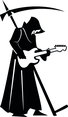 Death With Scythe And Guitar