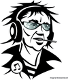 Man With Headphones Vector Image