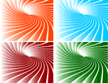 Sunbeams Swirl Vector Background