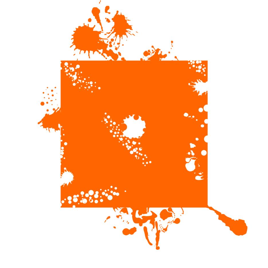 Orange Ink Background