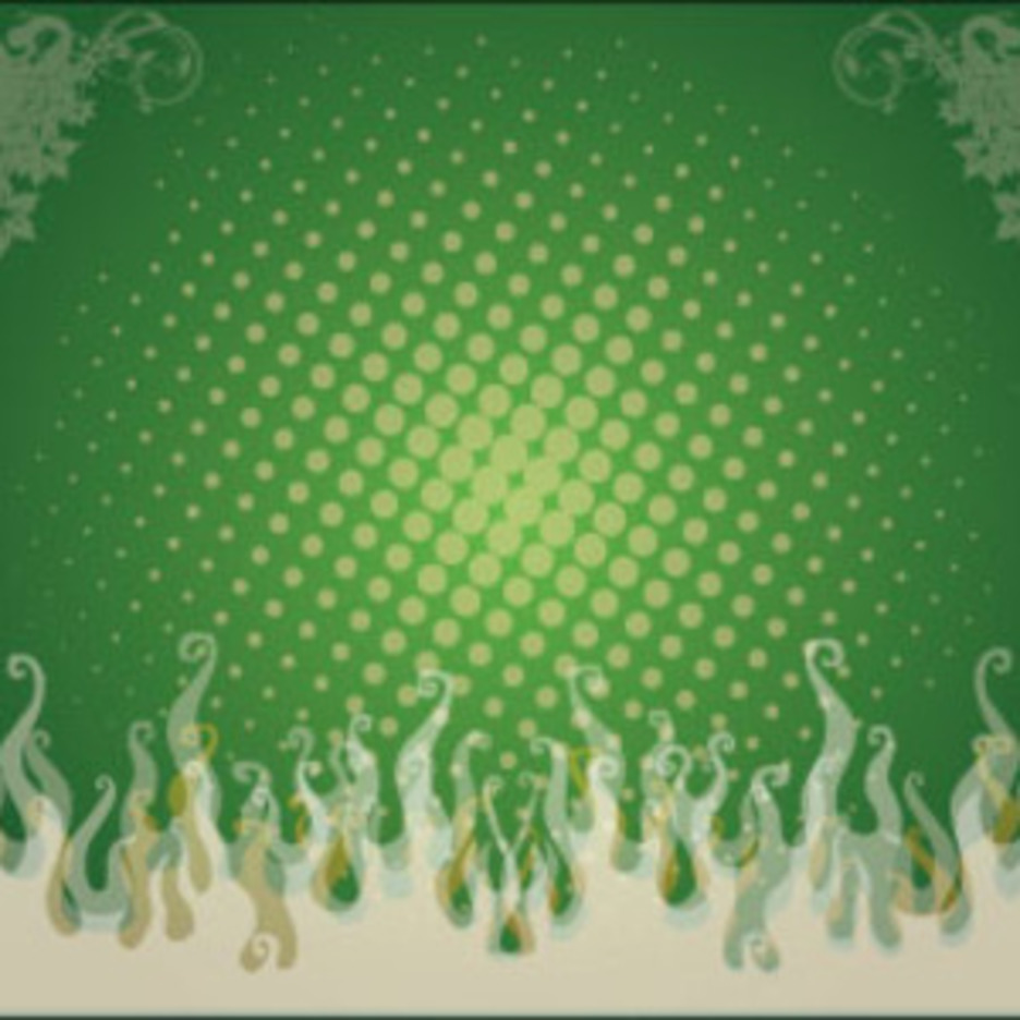 Green Swirly Flame Free Vector