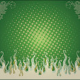 Green Swirly Flame Free Vector