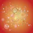 Orange Background With Circled Floral Art