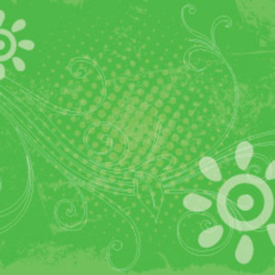 Green Grunge Swirly Free Vector Art Design