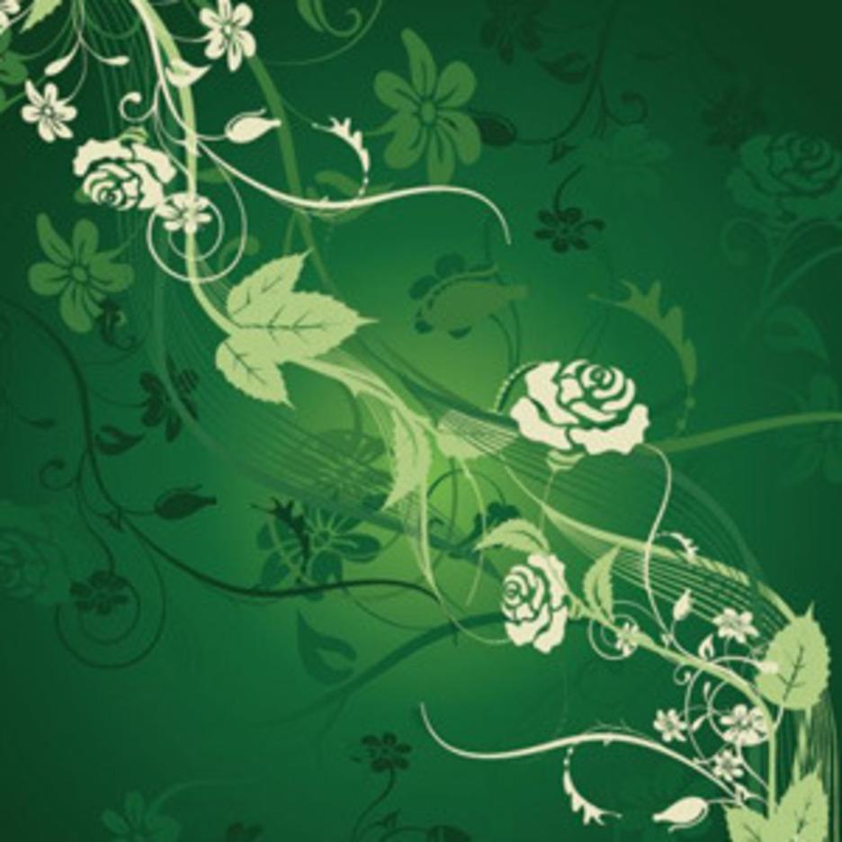Dark Green Foliage Background