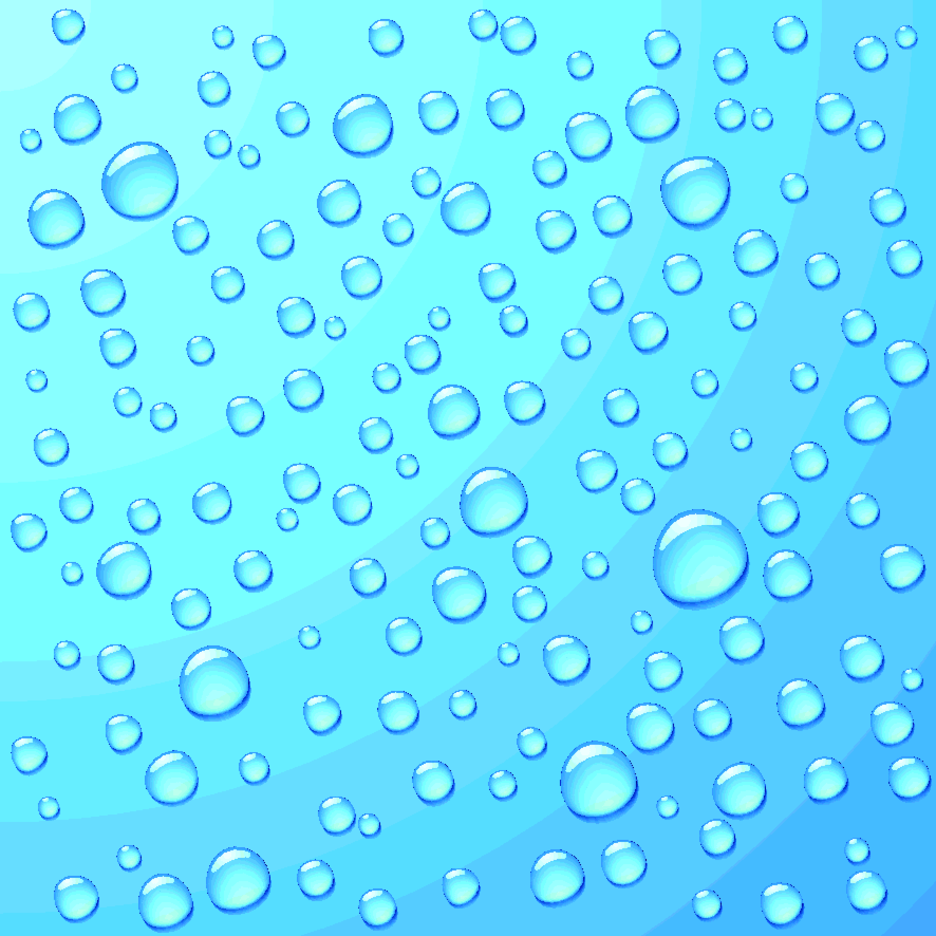 Water On Blue Background