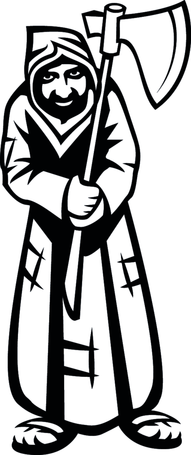 Man With Ax Vector Image
