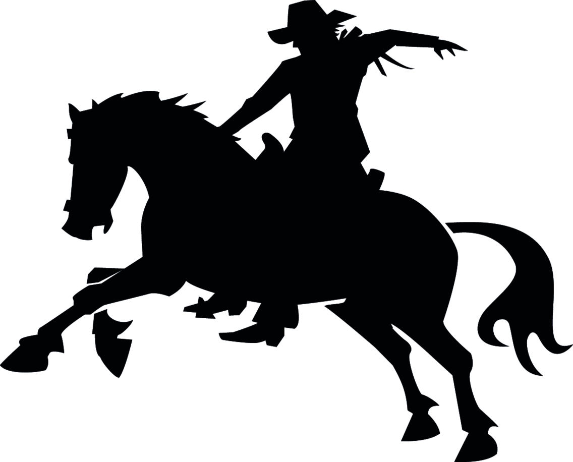 Cowboy Riding Horse Vector Image
