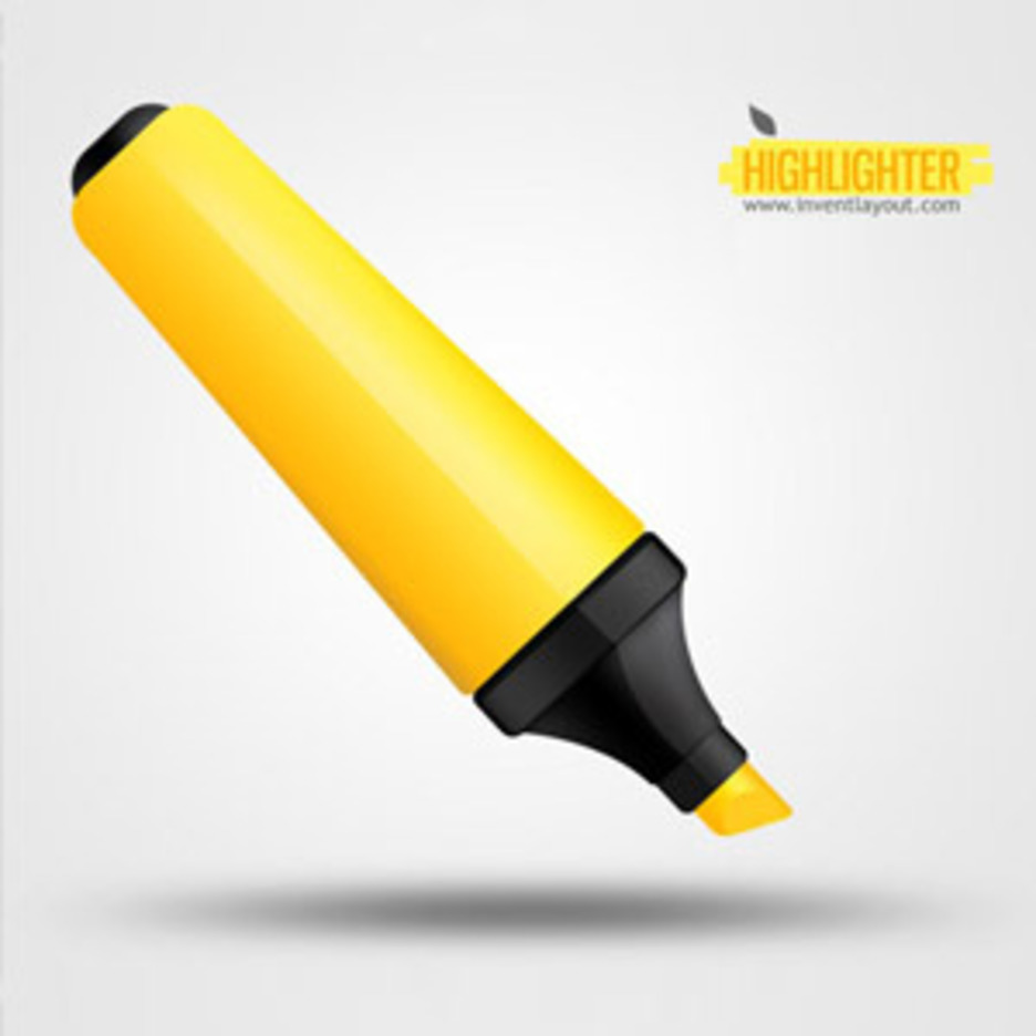 Yellow Highlighter Pen