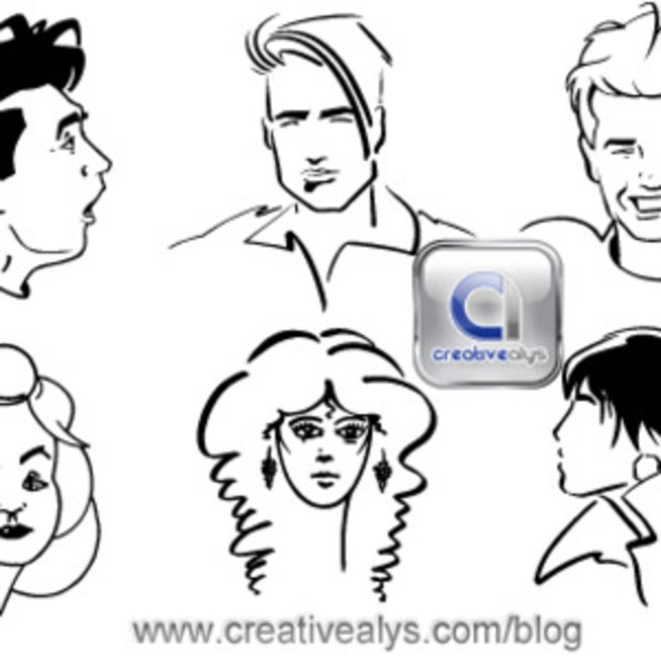 Line Art Faces