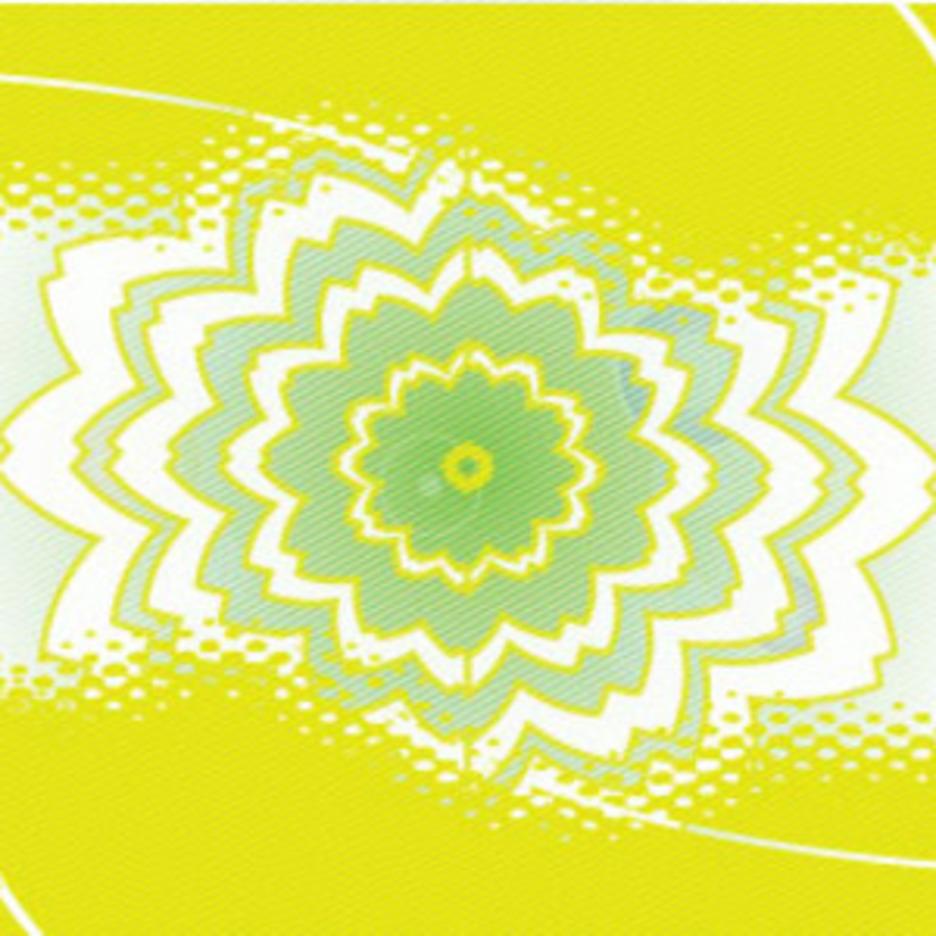 Grungy Floral Green Art Design