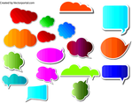 Speech Cloud And Bubbles Vector