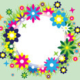 Spring Wreath Vector