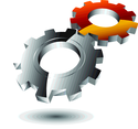 Glossy 3d Gear Logo