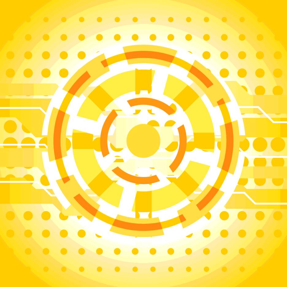 Orange Hi-tech Background