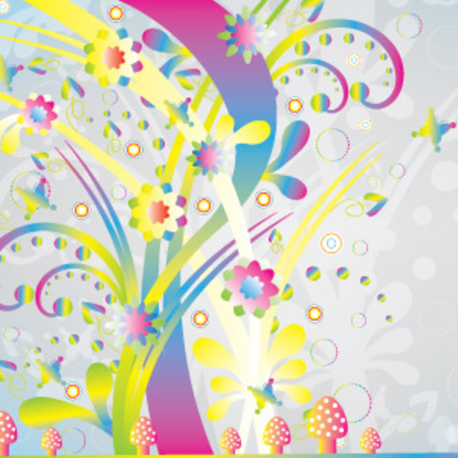 Abstract Colorful Nature Vector