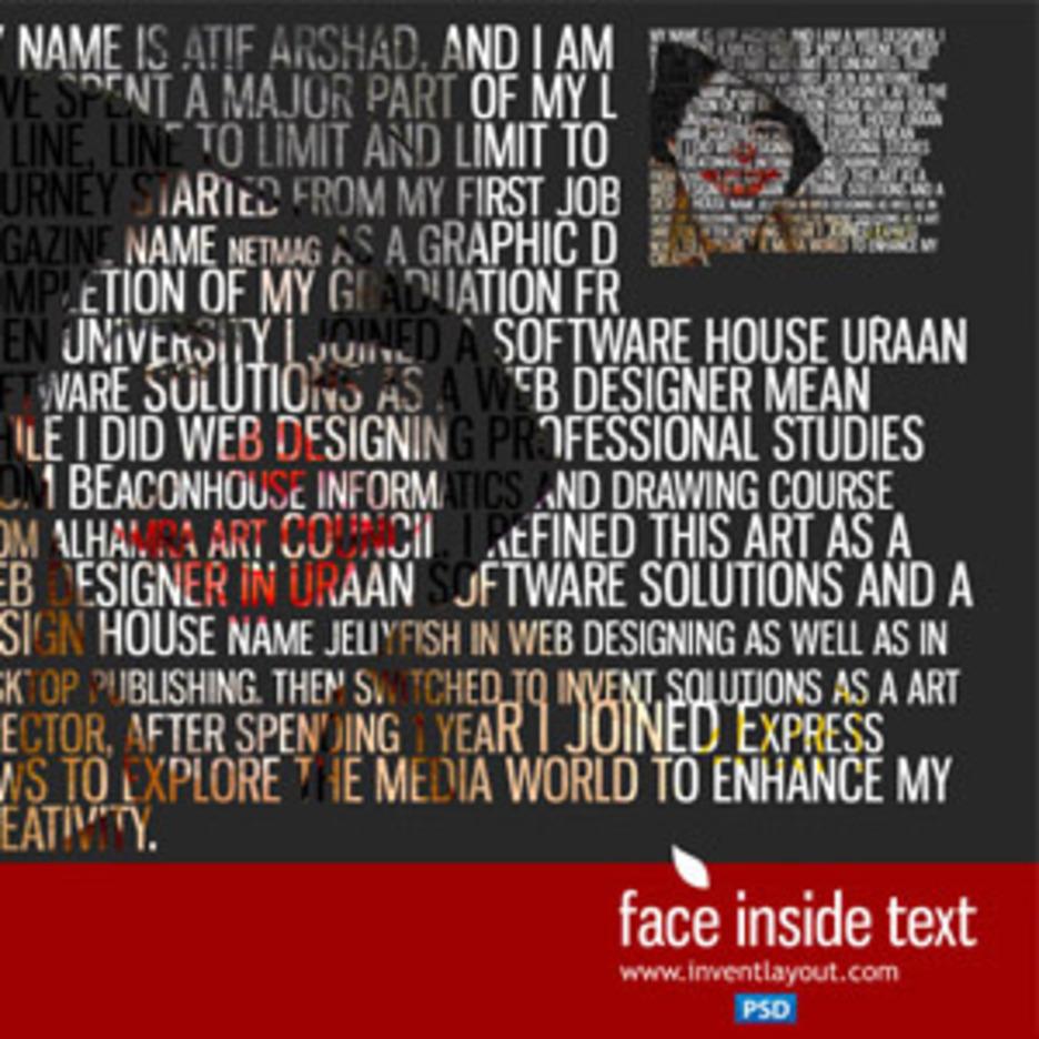 Face Inside Text Tutorial