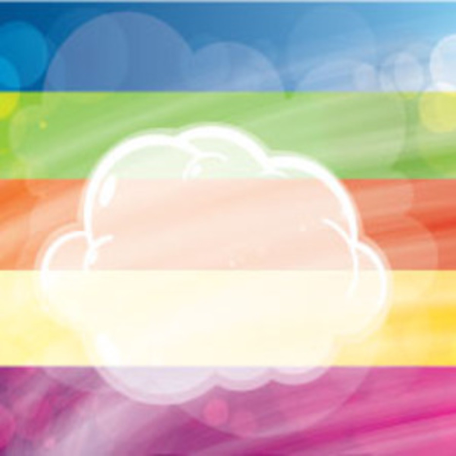 Transprent Clouds In Colored Vector