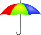 Colorful Vector Umbrella