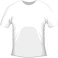 White Vector T-shirt Template
